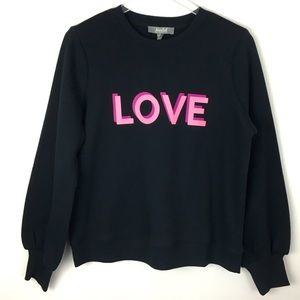 🆕 NWT LOVE Graphic Pink Black Balloon Sweatshirt